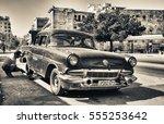 havana  cuba  dec 27  2016  old ... | Shutterstock . vector #555253642