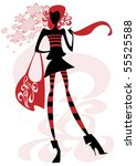 this is a silhouette of a girl... | Shutterstock .eps vector #55525588