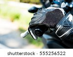a motorcycle glove is placing...   Shutterstock . vector #555256522