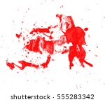 blood drops and splatters on... | Shutterstock .eps vector #555283342