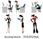 vector illustration of a six... | Shutterstock .eps vector #555292966