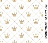 seamless pattern in retro style ... | Shutterstock .eps vector #555295252