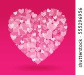 valentine day heart shape from...   Shutterstock .eps vector #555296956