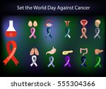 set of ribbons of different... | Shutterstock .eps vector #555304366