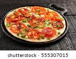 healthy breakfast  tomato...   Shutterstock . vector #555307015
