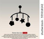 web line icon. baby crib...   Shutterstock .eps vector #555318142