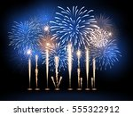 vector holiday firework.... | Shutterstock .eps vector #555322912
