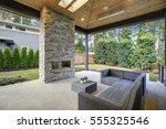 chic  elegant deck patio design ... | Shutterstock . vector #555325546