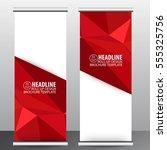red roll up business brochure...   Shutterstock .eps vector #555325756