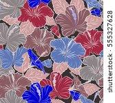 vector floral pattern for... | Shutterstock .eps vector #555327628