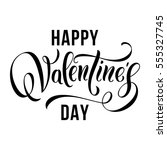 happy valentines day... | Shutterstock .eps vector #555327745
