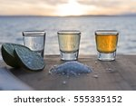 triple tequila sunset mexico | Shutterstock . vector #555335152