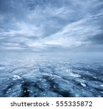 empty nature background  frozen ... | Shutterstock . vector #555335872