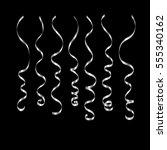 curly ribbon serpentine... | Shutterstock .eps vector #555340162