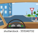 vector illustration   view from ... | Shutterstock .eps vector #555340732