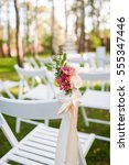 decoration of a wedding... | Shutterstock . vector #555347446