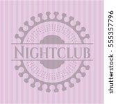 nightclub pink emblem. vintage. | Shutterstock .eps vector #555357796