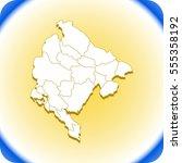 map of montenegro | Shutterstock .eps vector #555358192