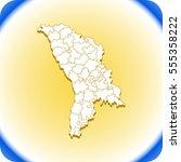 map of moldova | Shutterstock .eps vector #555358222