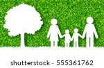 happy family concept vector... | Shutterstock .eps vector #555361762