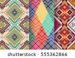 set of 3 abstract patterns.... | Shutterstock .eps vector #555362866