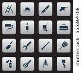 set of 16 editable apparatus... | Shutterstock .eps vector #555364708