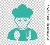 sad cook vector pictograph.... | Shutterstock .eps vector #555376972