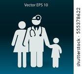 family practice vector... | Shutterstock .eps vector #555378622