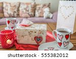 valentines day toy  hearts and...   Shutterstock . vector #555382012