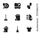 set of 9 editable cleanup icons....
