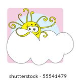 weather icon cloudy | Shutterstock .eps vector #55541479