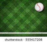 3d render of baseball on the... | Shutterstock . vector #555417208