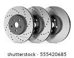 car discs brake rotors  drilled ... | Shutterstock . vector #555420685
