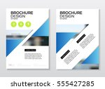 flyer corporate cover.  | Shutterstock .eps vector #555427285
