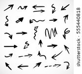 hand drawn arrows  vector set | Shutterstock .eps vector #555440818