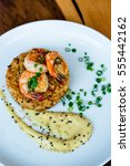 Small photo of Shrimp on Rice Croquette with Miso Aioli