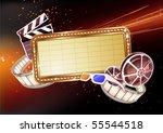 vector illustration of  retro... | Shutterstock .eps vector #55544518