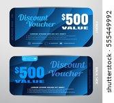 vector discount voucher on the... | Shutterstock .eps vector #555449992