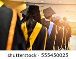 graduation ceremony ... | Shutterstock . vector #555450025