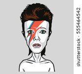 David Bowie Pop Art Vector...
