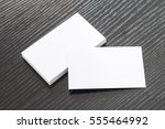 business card on desk | Shutterstock . vector #555464992