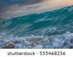 sea wave rising. ocean... | Shutterstock . vector #555468256
