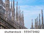 duomo di milano. milan. italy.... | Shutterstock . vector #555473482