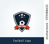 soccer football club logo badge ... | Shutterstock .eps vector #555488632