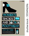 women's shoes   footwear   free ... | Shutterstock .eps vector #555496396