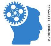 head gearwheel vector icon....   Shutterstock .eps vector #555499132