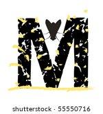grunge art type m | Shutterstock .eps vector #55550716
