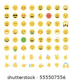 set of emoticon vector isolated ... | Shutterstock .eps vector #555507556