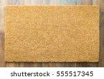 blank welcome mat on wood floor ... | Shutterstock . vector #555517345