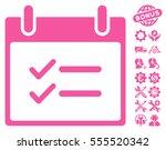 check items calendar day icon...